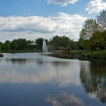 pond in Spreeauenpark Cottbus