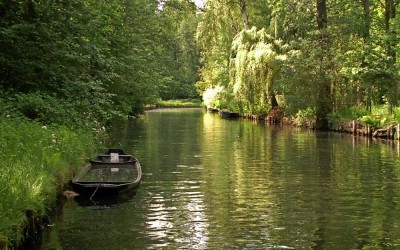 Spreewald with boat