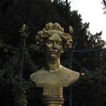 golden woman bust