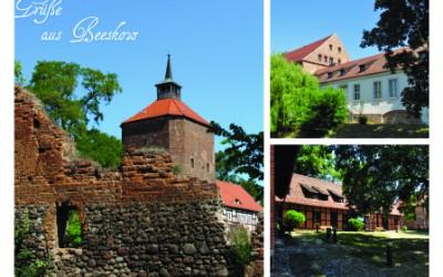 Beeskow postkarte postcard city brandenburg germany burg